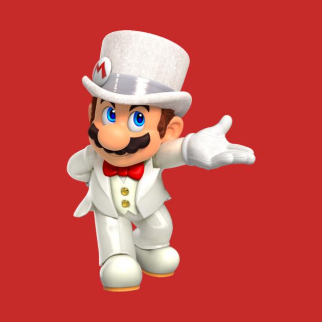 Super Mario Odyssey   Wedding Mario   Mario   T Shirt | TeePublic