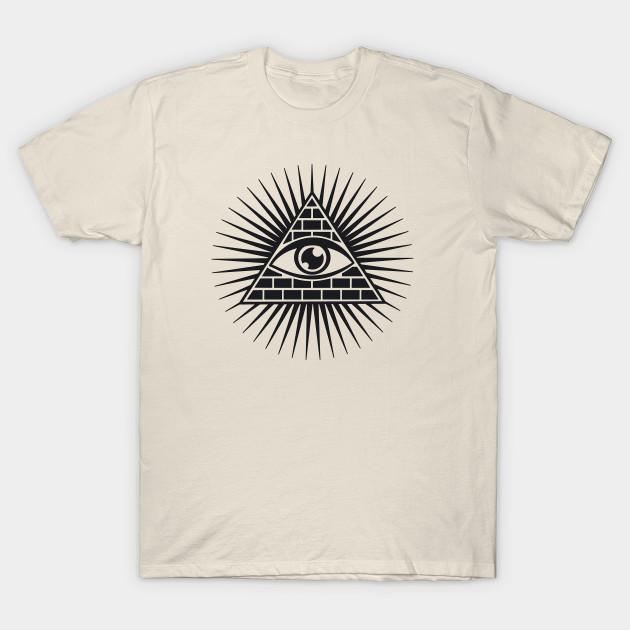 Illuminati Eye//All Seeing Gods Eye Symbol Gray Tshirt