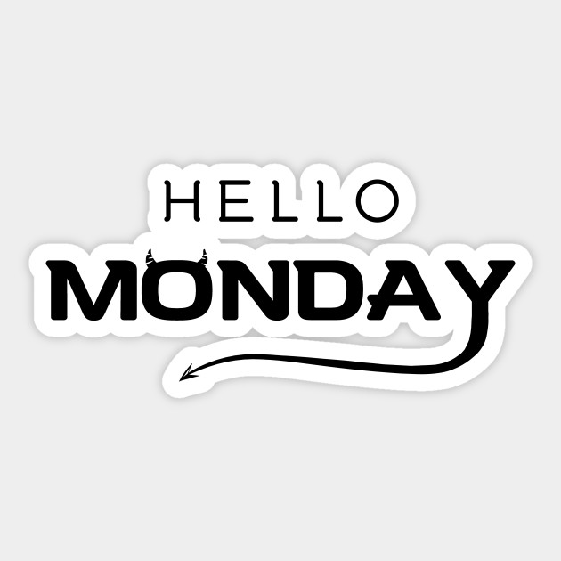 Hello monday sticker