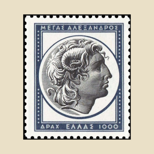Alexander the Great, the greatest Greek (stamp) t-shirts