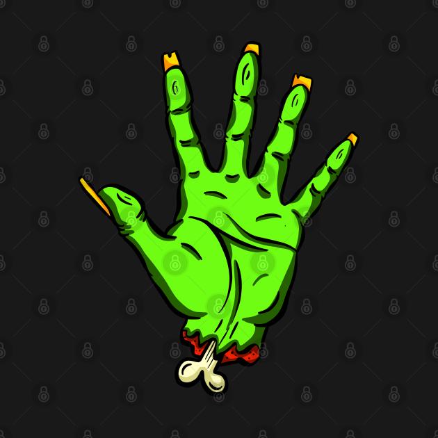 Zombie Undead Cut off Hand Hello Cartoon