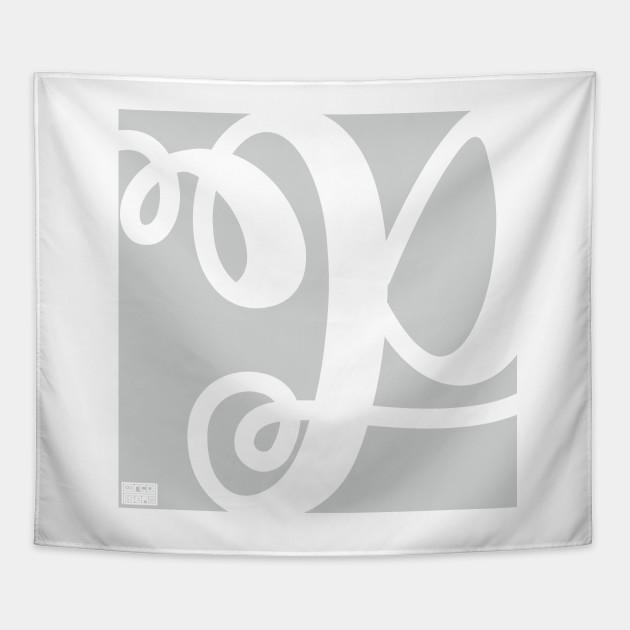 Letter P Elegant Cursive Calligraphy Initial Monogram