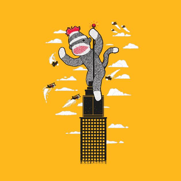 Sock Monkey Just Wants a Friend - Funny Monkey - T-Shirt | TeePublic