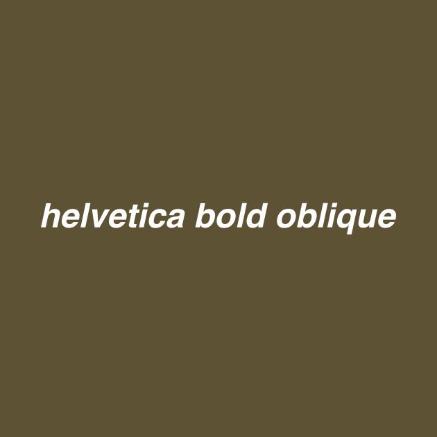 helvetica bold oblique
