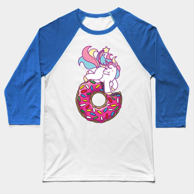 5113f313516e Unicorn   donut - Unicorn - Baseball T-Shirt