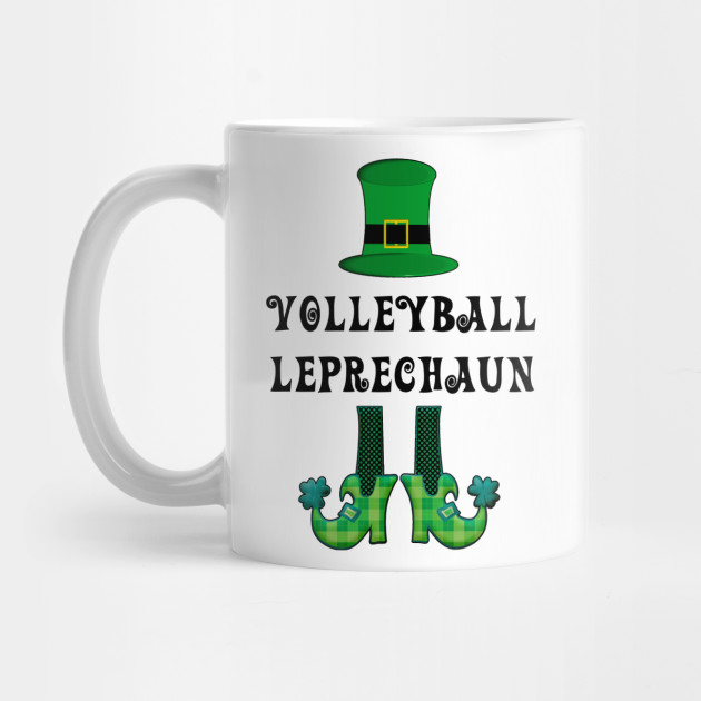 St Patrick's St Paddy's St Patty's Day Volleyball Leprechaun Mug