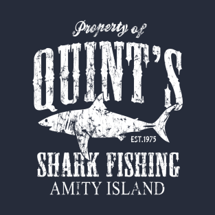 Retro Amity Island Quint's Shark Fishing t-shirts