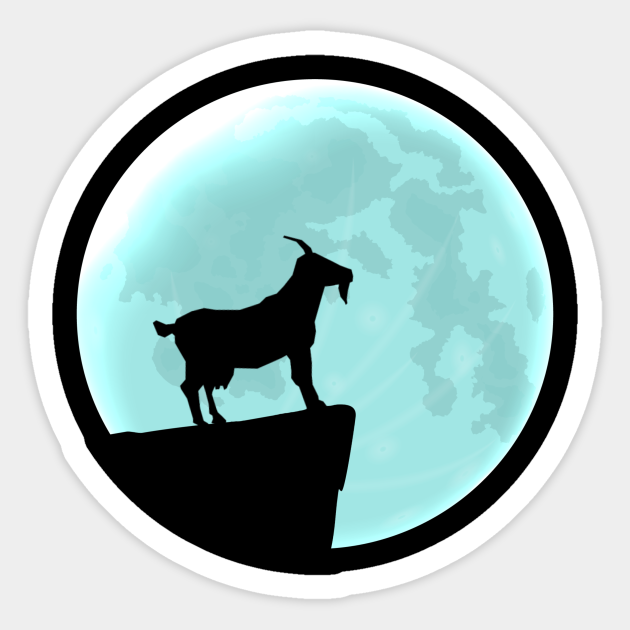 Goat Silhouette With Moon Gift Goat Lover Sticker Teepublic Uk 4:57 jon harris recommended for you. teepublic