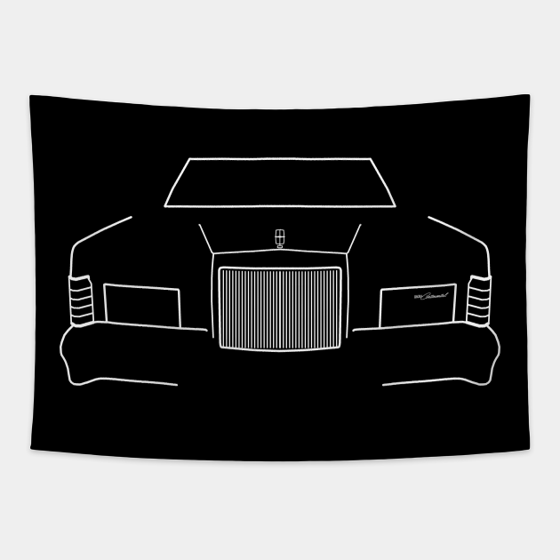 1979 vintage Lincoln Continental outline graphic (white)