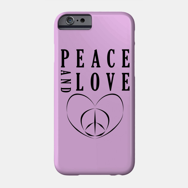 Peace and Love Sign best gift Black design