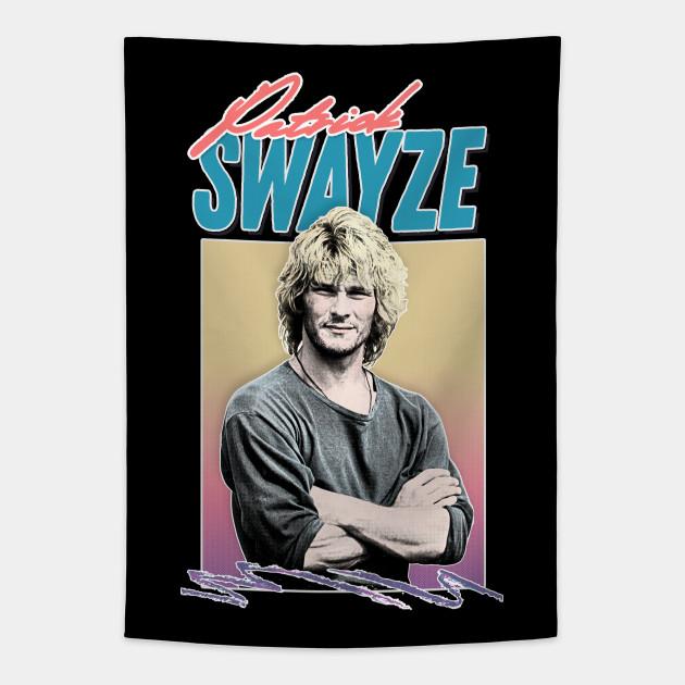 Patrick Swayze ∆90s Styled Retro Graphic Design