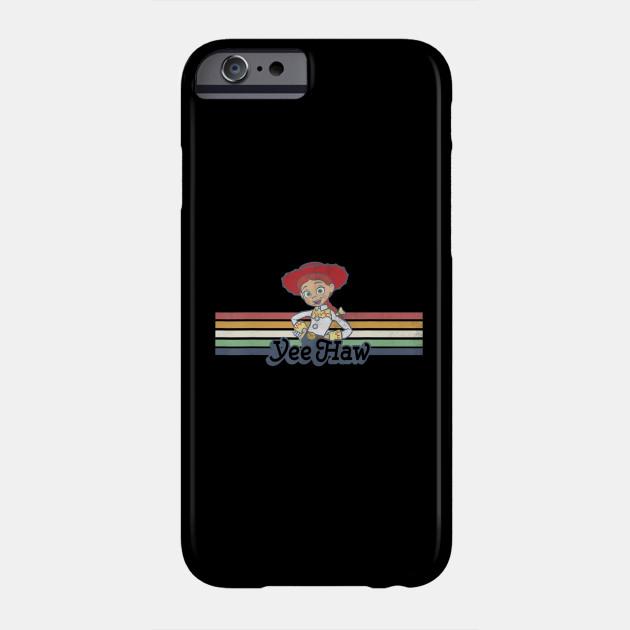 Disney Pixar Toy Story Jessie Cowgirl Rainbow Stripe Yee Haw Phone Case
