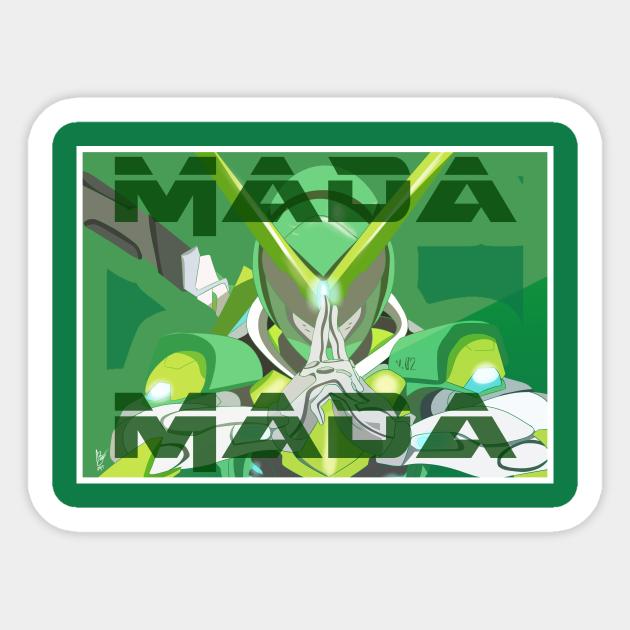 Genji Sentai Mada Mada Overwatch Sticker Teepublic See more ideas about overwatch, overwatch fan art, overwatch comic. teepublic