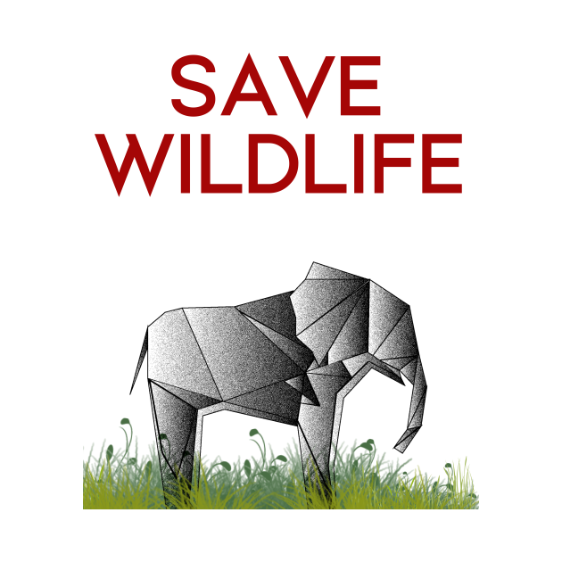 Save Wildlife - Origami Elephant