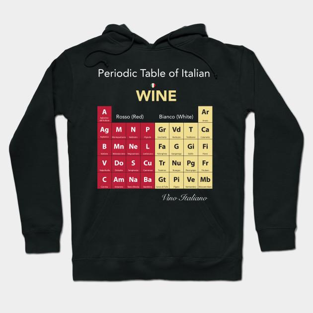 Periodic Table Of Italian Wine Periodic Table Of Wine Hoodie
