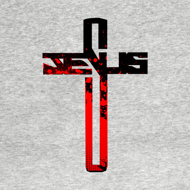 red and black jesus cross christian cross t shirt teepublic