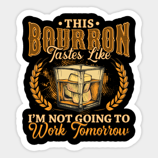 """Bourbon FRIDGE ONLY Warning Stickers Pong Game Decal drink 2 Pack 4/"""" Stickers"""