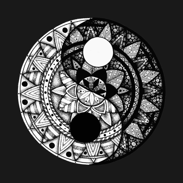 yin yang mandala yin and yang t shirt teepublic. Black Bedroom Furniture Sets. Home Design Ideas