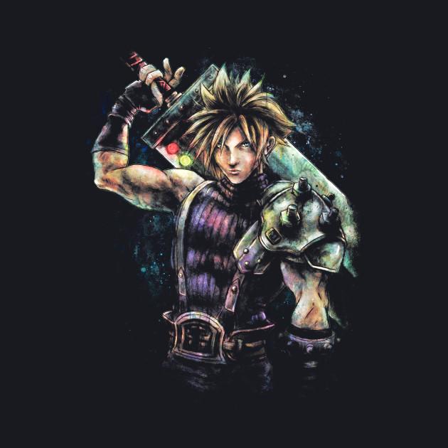 Epic Cloud Strife Final Fantasy VII portrait