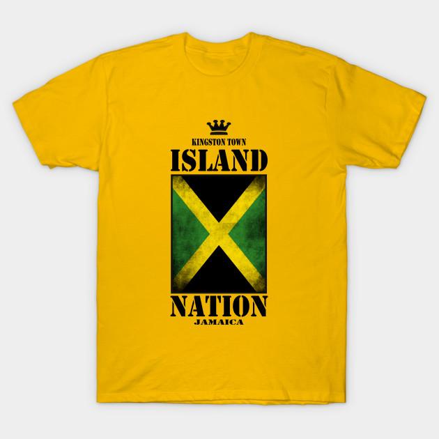 Island Nation Jamaica Kingston t shirt, jamaica flag print