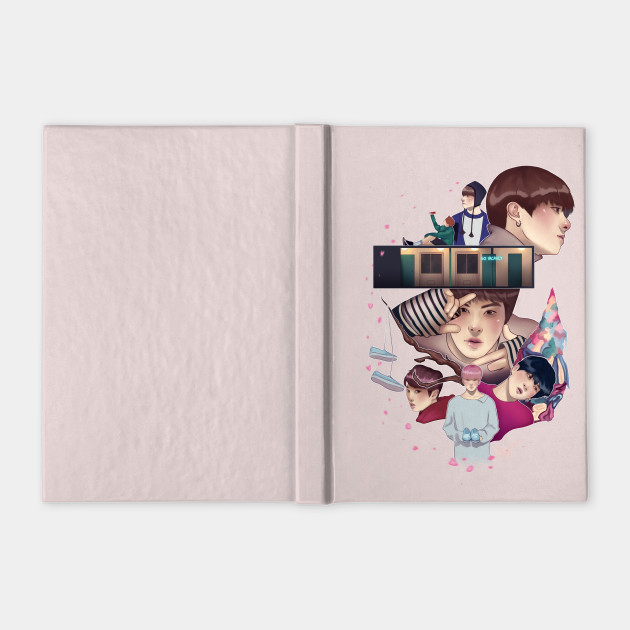 bts spring day bts notebook teepublic