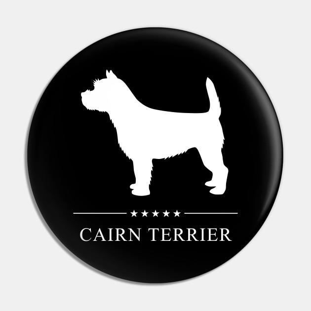 Cairn Terrier Dog White Silhouette