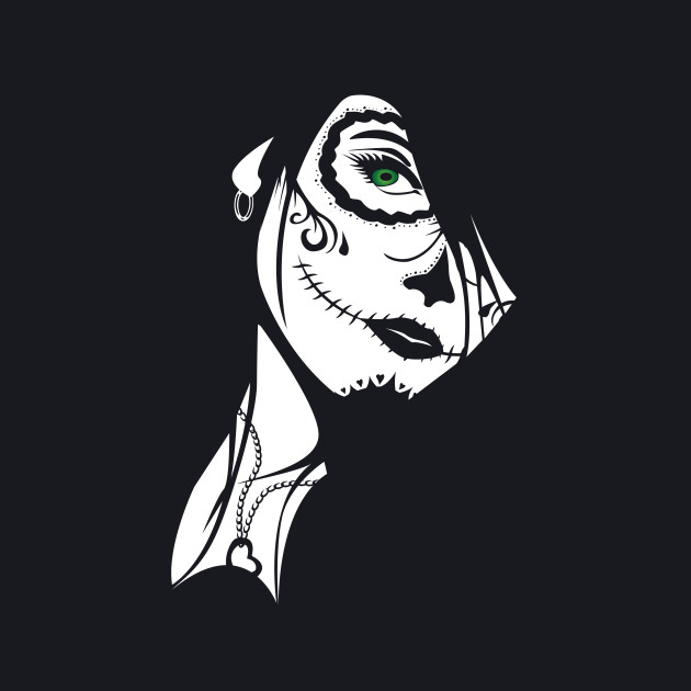Sugar Skull Girl Art