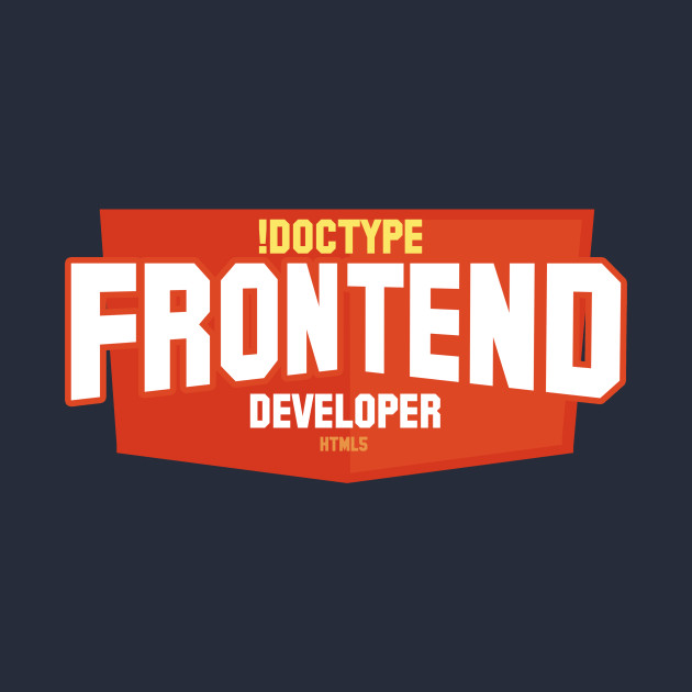 graphic of front-end developer