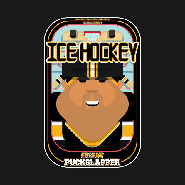 Ice Hockey Black and Yellow - Faceov Puckslapper - Seba version