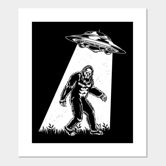 Bigfoot Ufo Abduction Vintage Bigfoot Believer