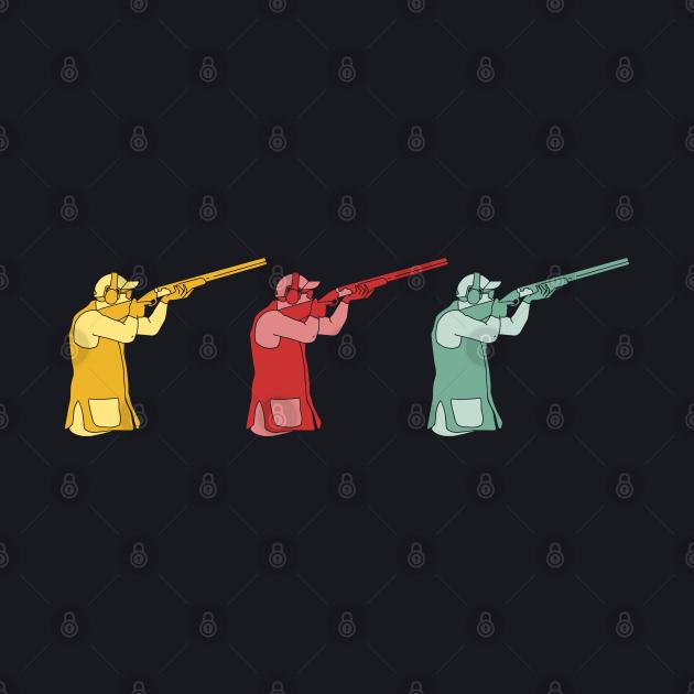 Retro shotgun Skeet clay pigeon shooters