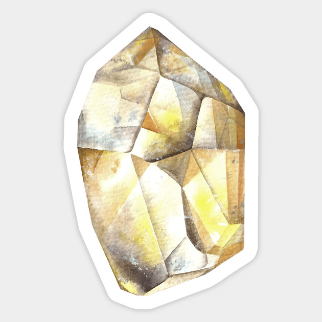 Citrine Watercolor Gem Stone