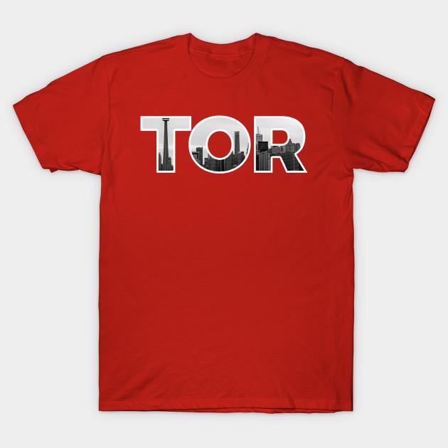 dffaa471 Toronto Raptors TOR Skyline - Toronto Raptors - T-Shirt | TeePublic