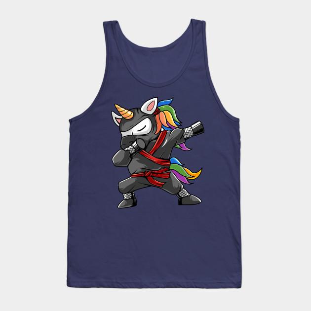Cute Dabbing Ninja Unicorn Shirt Funny Ninja Unicorn Dab Dabbing