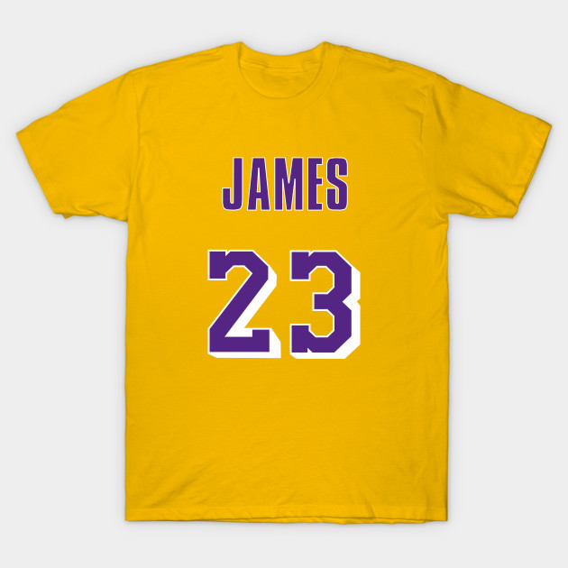 1fab8a4cf9f6 LeBron James Throwback Lakers Jersey 1 - Lebron James - T-Shirt ...