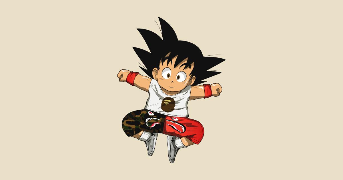 Hyper Beast Fullprint Hoodie: Kid Goku Hypebeast - Goku Hype - T-Shirt
