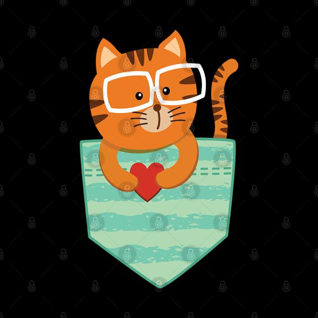 Cute cats pocket tees