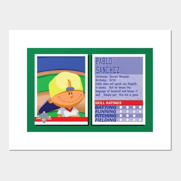 Pablo Sanchez Backyard Sports pablo sanchez - backyard baseball stats card - pablo sanchez