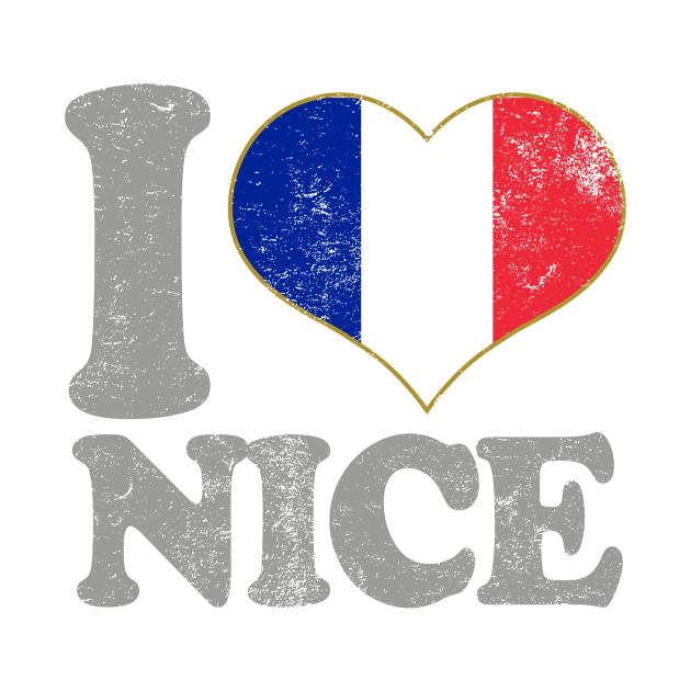 I Love Nice Francer French Flag Pride