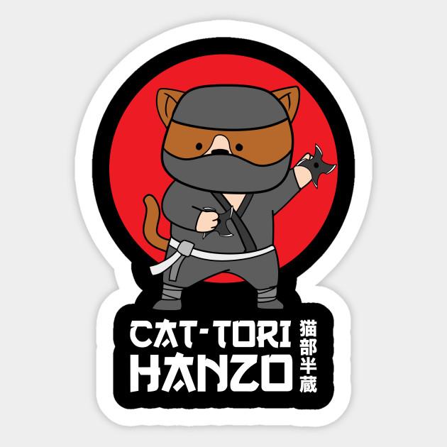 Anime Funny Cat Ninja Cat-Tori Hanzo Cute Kawaii Shirt