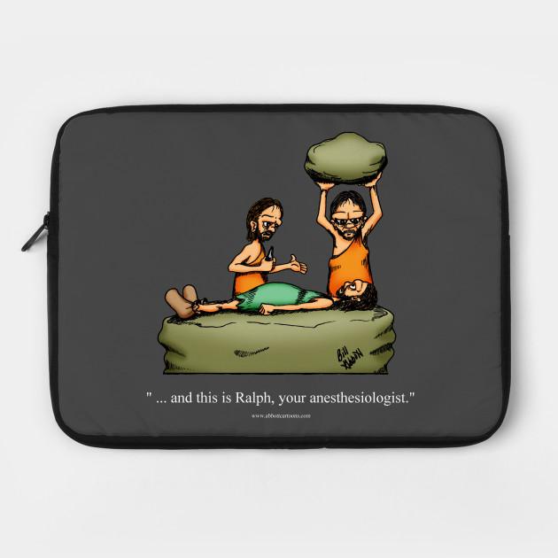 Funny Caveman Anesthesiologist Cartoon Humor