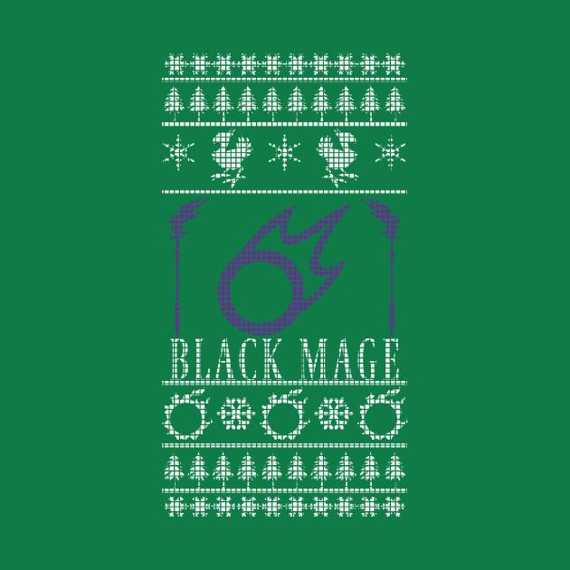 Final Fantasy XIV Black Mage Ugly Christmas Sweater - Ugly Xmas ...