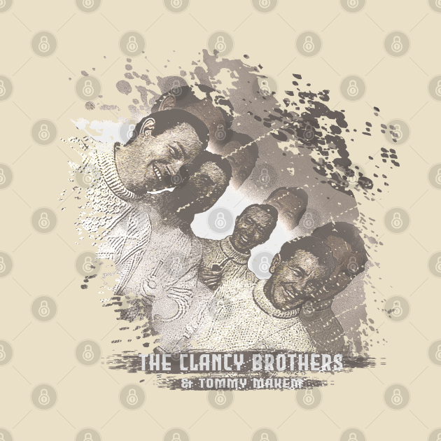 The Clancy Brothers & Tommy Makem Retro Style Fan Art
