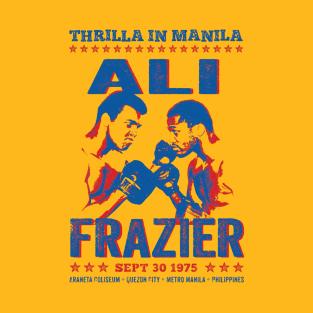 Thrilla in Manila Ali V's Frazier Vintage t-shirts