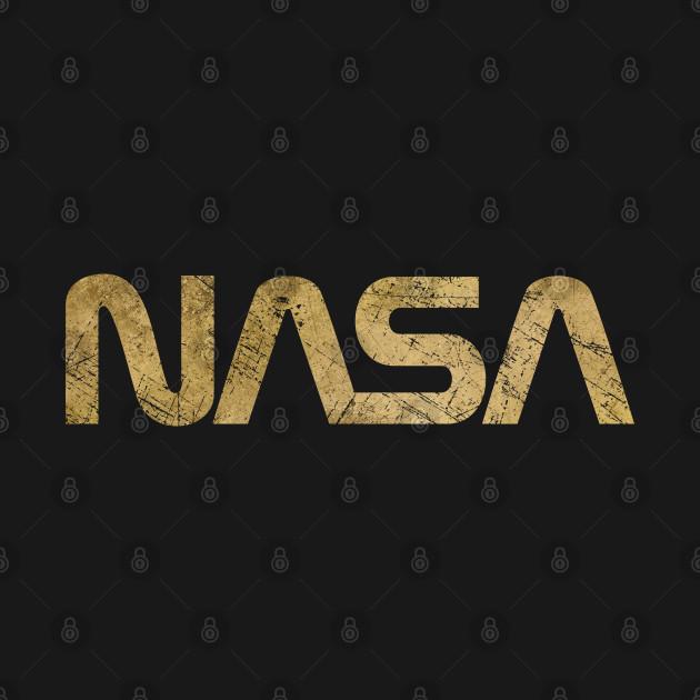 NASA Vintage Emblem 1975-1992 - Gold Edition