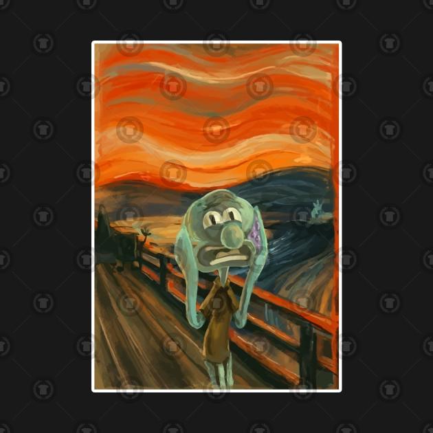 squidward art scream