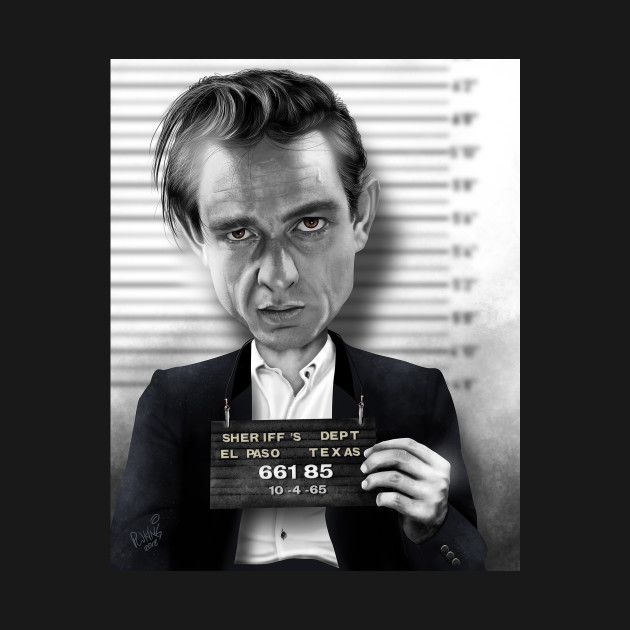 f58cc83d703 Johnny Cash Mugshot Caricature - Johnny Cash Mugshot Caricature ...