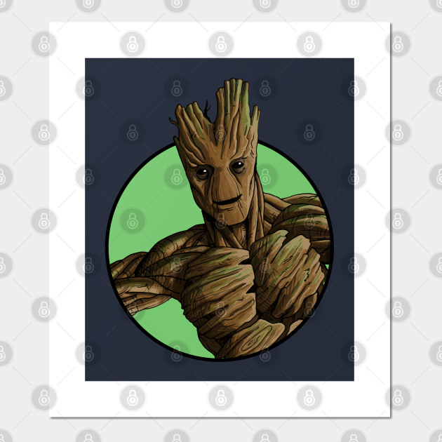 Guardians of the Galaxy groot poster print wall art super heroes marvel