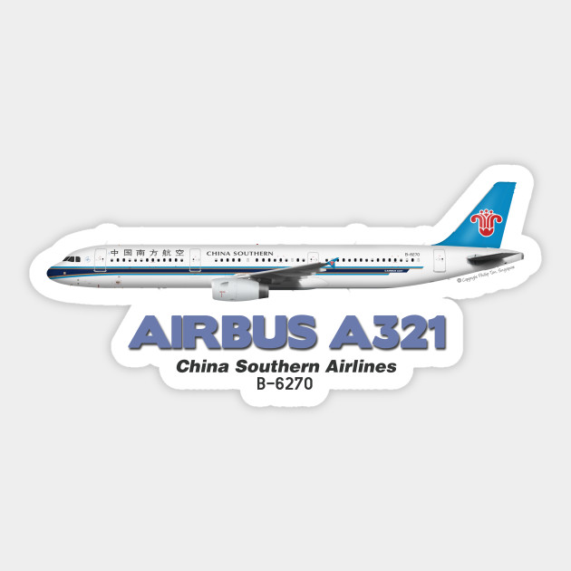 Airbus A321 aircraft sticker