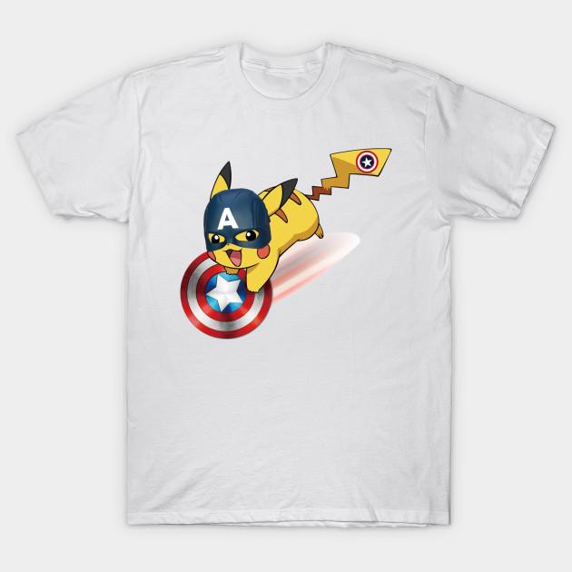 6f033a20 Captain Pikachu - Avengers - T-Shirt | TeePublic
